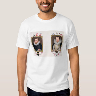 Double portrait of Sir Francis Drake (c.1540-96) a T-shirts