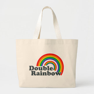 Double Rainbow (Accessories) Large Tote Bag