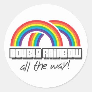 Double rainbow, all the way! sticker