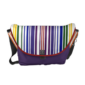 Double Rainbow Barcode Courier Bag
