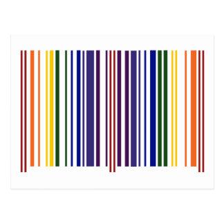 Double Rainbow Barcode Postcard