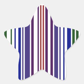 Double Rainbow Barcode Star Sticker