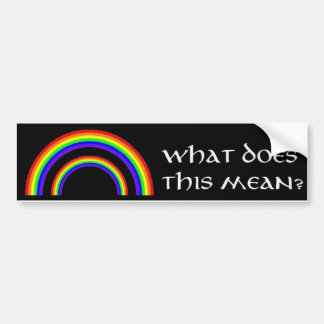 Double Rainbow Bumper Sticker