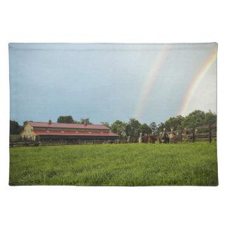 Double Rainbow Farm Scene Placemats