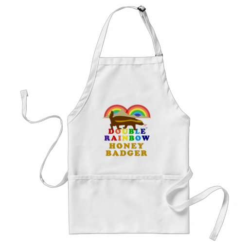 double rainbow honey badger aprons