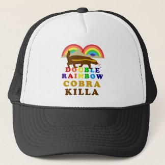 Double Rainbow Honey Badger Cobra Killa Trucker Hat