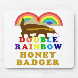 double rainbow honey badger mouse pad