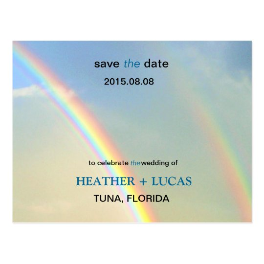 Double Rainbow l Save The Date Postcard