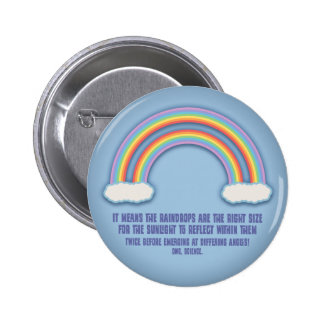 Double Rainbow Meaning 6 Cm Round Badge