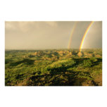 Double Rainbow over Painted Canyon in Theodore Photograph