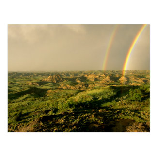 Double Rainbow over Painted Canyon in Theodore Post Cards