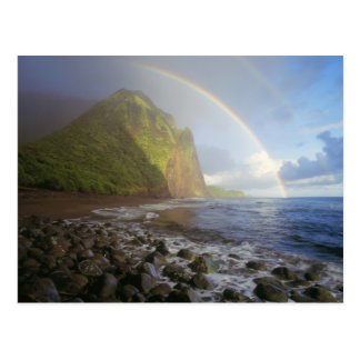 Double rainbow over the cliffs of the North Post Cards