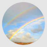Double Rainbow Promis Classic Round Sticker