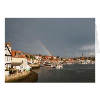 double rainbow, Whitby, UK - notecard