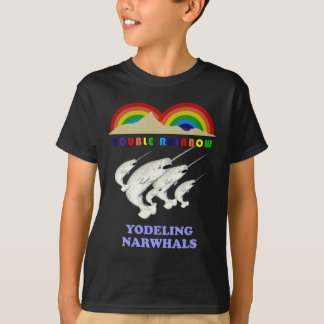 Double Rainbow Yodeling Narwhals T-Shirt