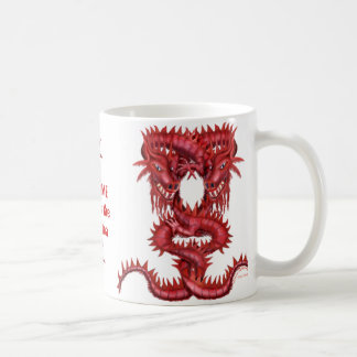 Double Red Dragon Mug