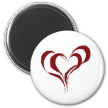 Double Red Heart Fridge Magnet