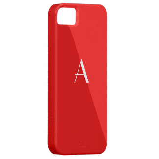 Double Red Monogram iPhone 5 Case
