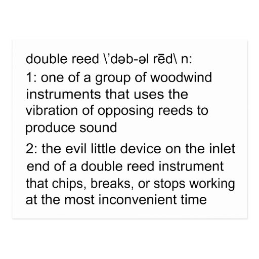 Double Reed Definition Postcards