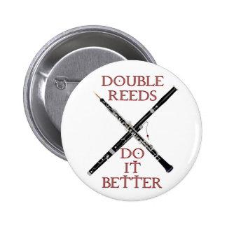 Double Reeds 6 Cm Round Badge