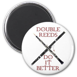 Double Reeds 6 Cm Round Magnet