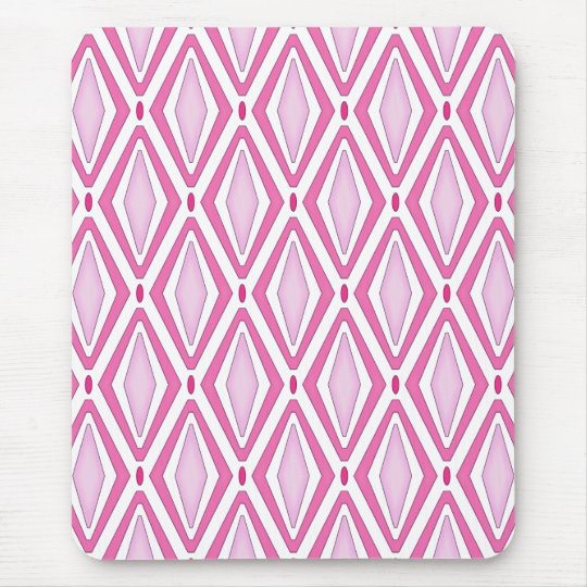 Double Retro Diamond Pinks Mouse Mat