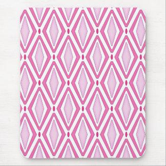 Double Retro Diamond Pinks Mouse Pad