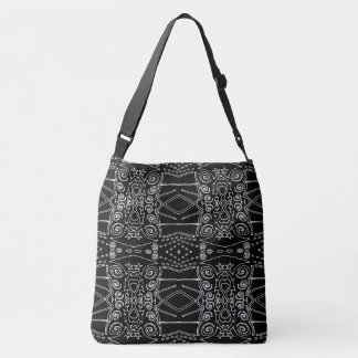 Double sack black and white pop reason crossbody bag
