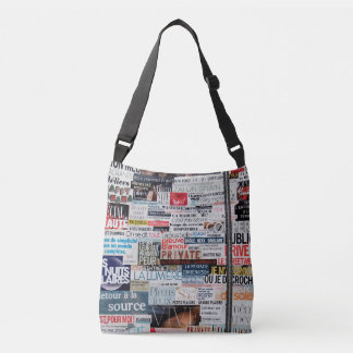 "Double sack ""Sets of newspapers "" Crossbody Bag"