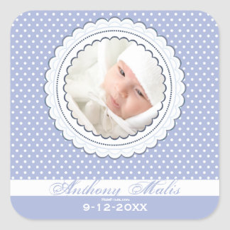 Double Scalloped Frame Photo Sticker