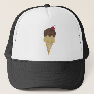 Double Scoop Ice Cream Cone Trucker Hat