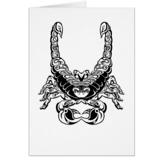Double Scorpion Design & Peace Sign Greeting Card
