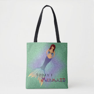 Double-side Can't Adult/I Mermaid Tote Bag