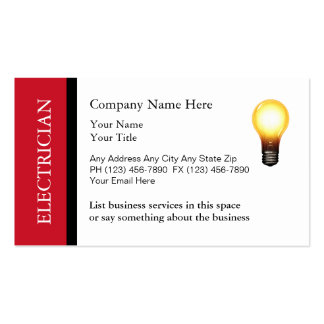 Double Side Electrician Business Cards