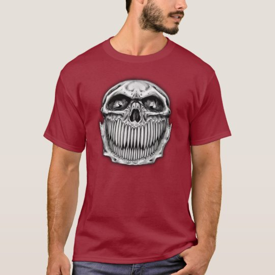 Double Side Happy and Sad Skull T-Shirt