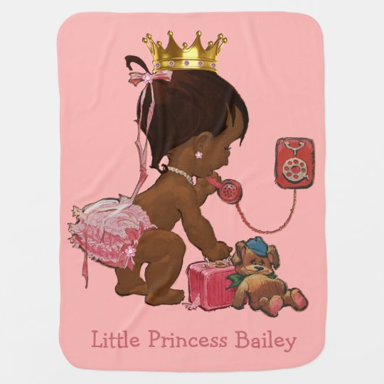 Double Side Print Ethnic Princess Personalised Baby Blanket