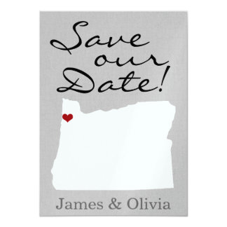Double Side Save the Date with OR State 11 Cm X 16 Cm Invitation Card