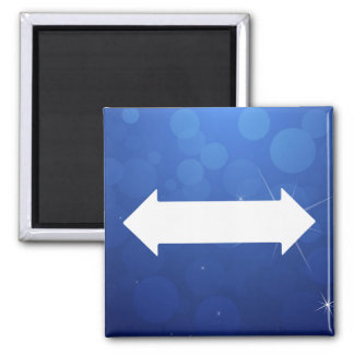 Double Sided-Arrows Minimal Square Magnet