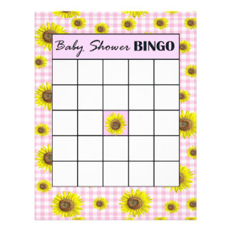 Double Sided Baby Shower Game BINGO/Baby Names Flyer