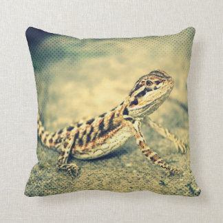 double sided bearded dragon (lizard) pillow