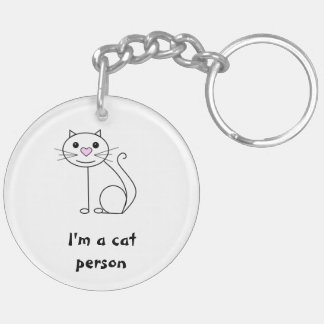 Double sided cat and dog keyring