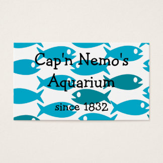 Double sided fish pattern business card