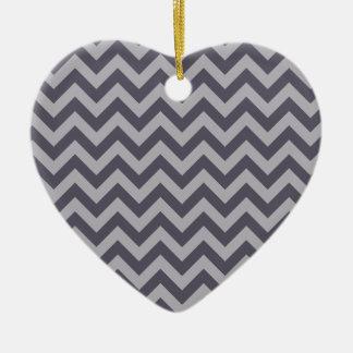Double sided heart ceramic heart decoration