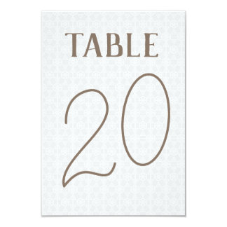 Double Sided Hint of Pattern Table Number