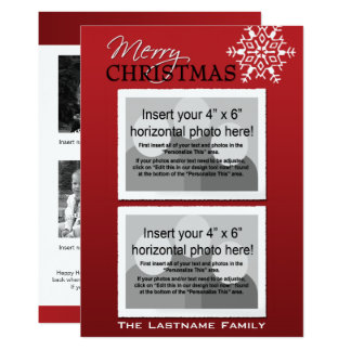 Double-sided Holiday Photo Card 13 Cm X 18 Cm Invitation Card