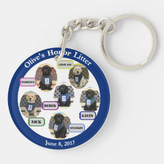 Double Sided Honor Litter Family Keychain
