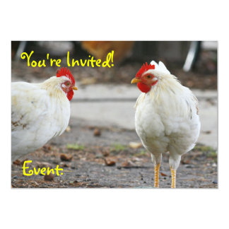 Double Sided Invitation, Rooster 13 Cm X 18 Cm Invitation Card