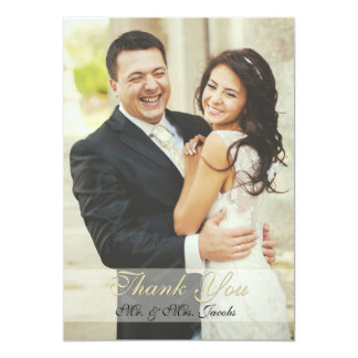 Double Sided Ivory Photo Wedding Thank You Cards