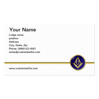 Double sided Masonic business card