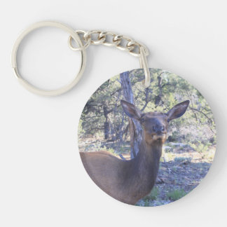 Double sided Moose Key Chain